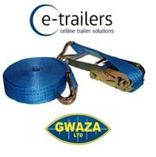 Ratchet Web Strap Load Binder 4.5m x 25mm -Safe Load 750Kg Max 1500kg GWAZA 867